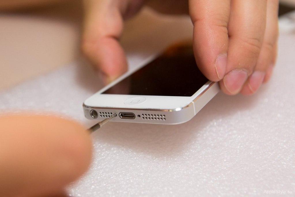 Откручиваем болты iPhone