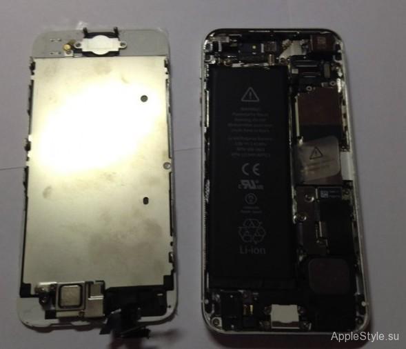 Дисплей iPhone снят