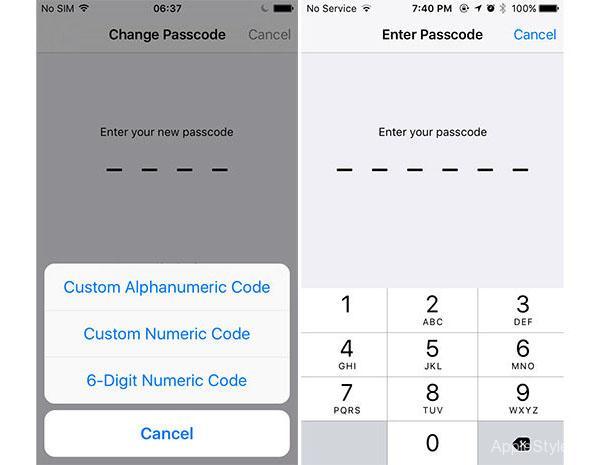 Новая система паролей для ios