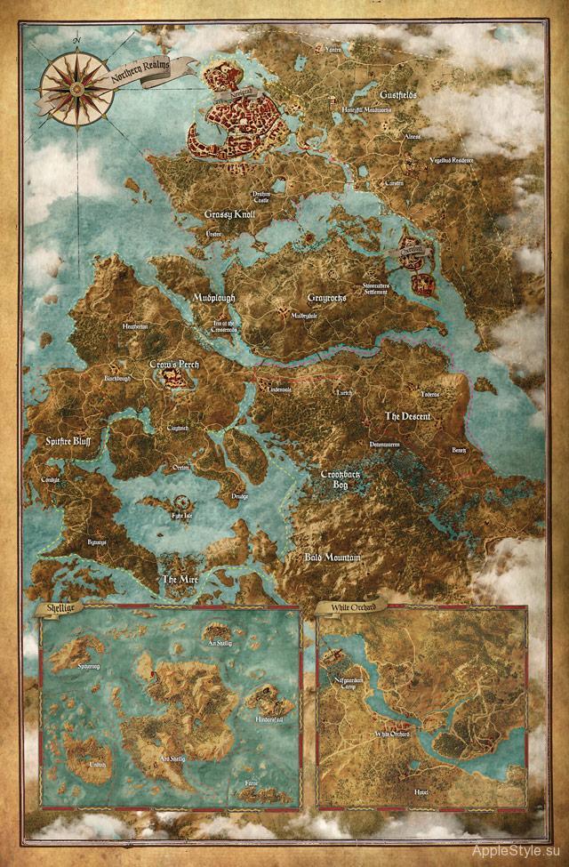 """Карта игры """"ведьмак 3"""""""