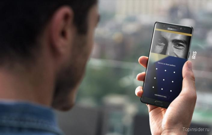 Сканер сетчатки Samsung Galaxy Note 8